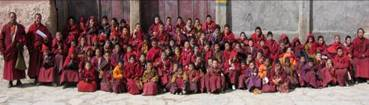 Young students, with their teachers, at Surmang Dutsi Til    February 2010      All  Photos by Khenpo Tsering Gyurme