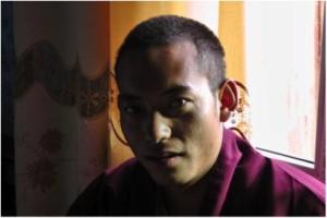 Chokyi Senge Trungpa XII Rinpoche in his residence at Serthar monastery