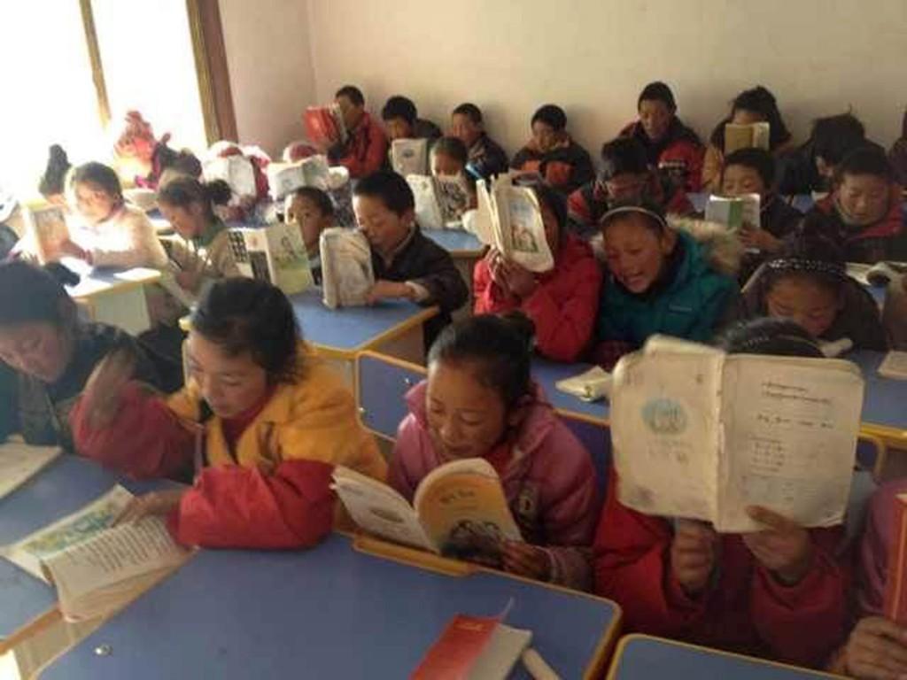 Children studying in the Education Program