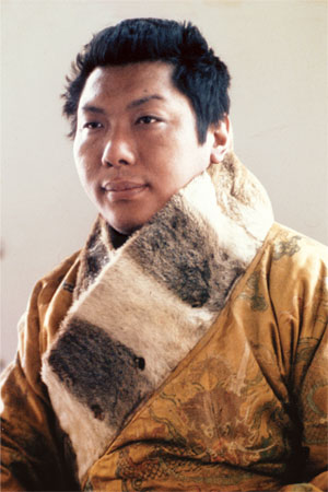 Eleventh Trungpa in the robe of the Tenth Trungpa Photo: Martin Janowitz