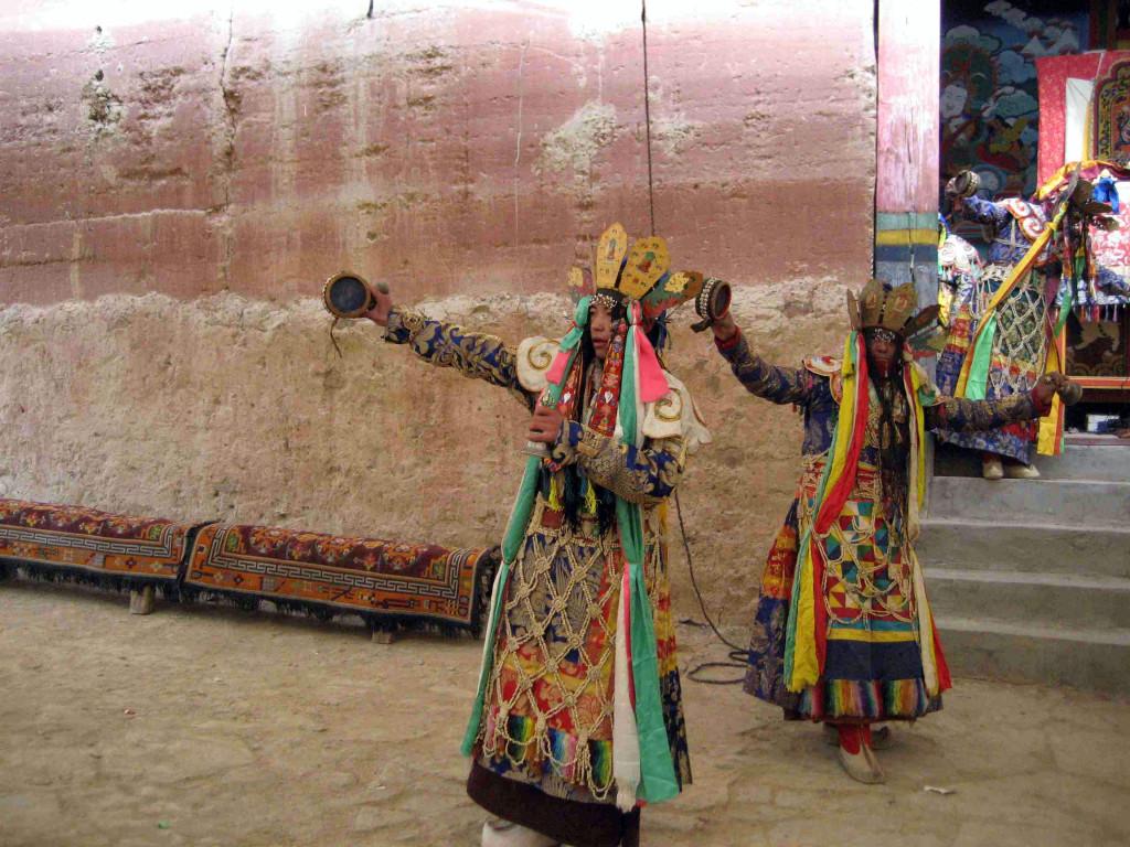 The Twelfth Trungpa leading the Chakrasamvara dance at Surmang in 2009
