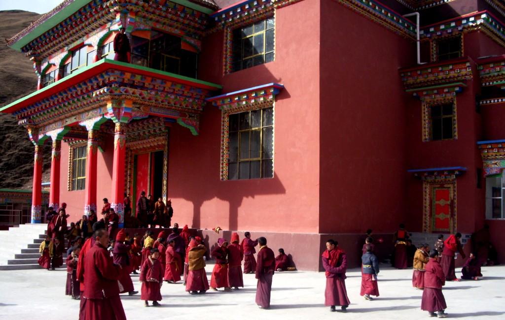 lhakang front courtyard