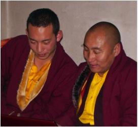 Chokyi Senge Trungpa XII Rinpoche & Aten (Chetsang) Rinpoche -Photo Surmang Khenpo