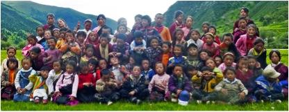 A group of the Surmang lay school children  -Photo Surmang Khenpo