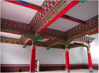 Inside the shedra shrine room