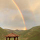 Rainbow over Surmang Valley as New Nunnery Site Consecrated